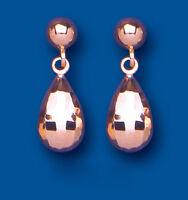 Rose Gold Earrings Bomb Drop Earrings Rose Gold Drop Dangle Earrings Red Gold