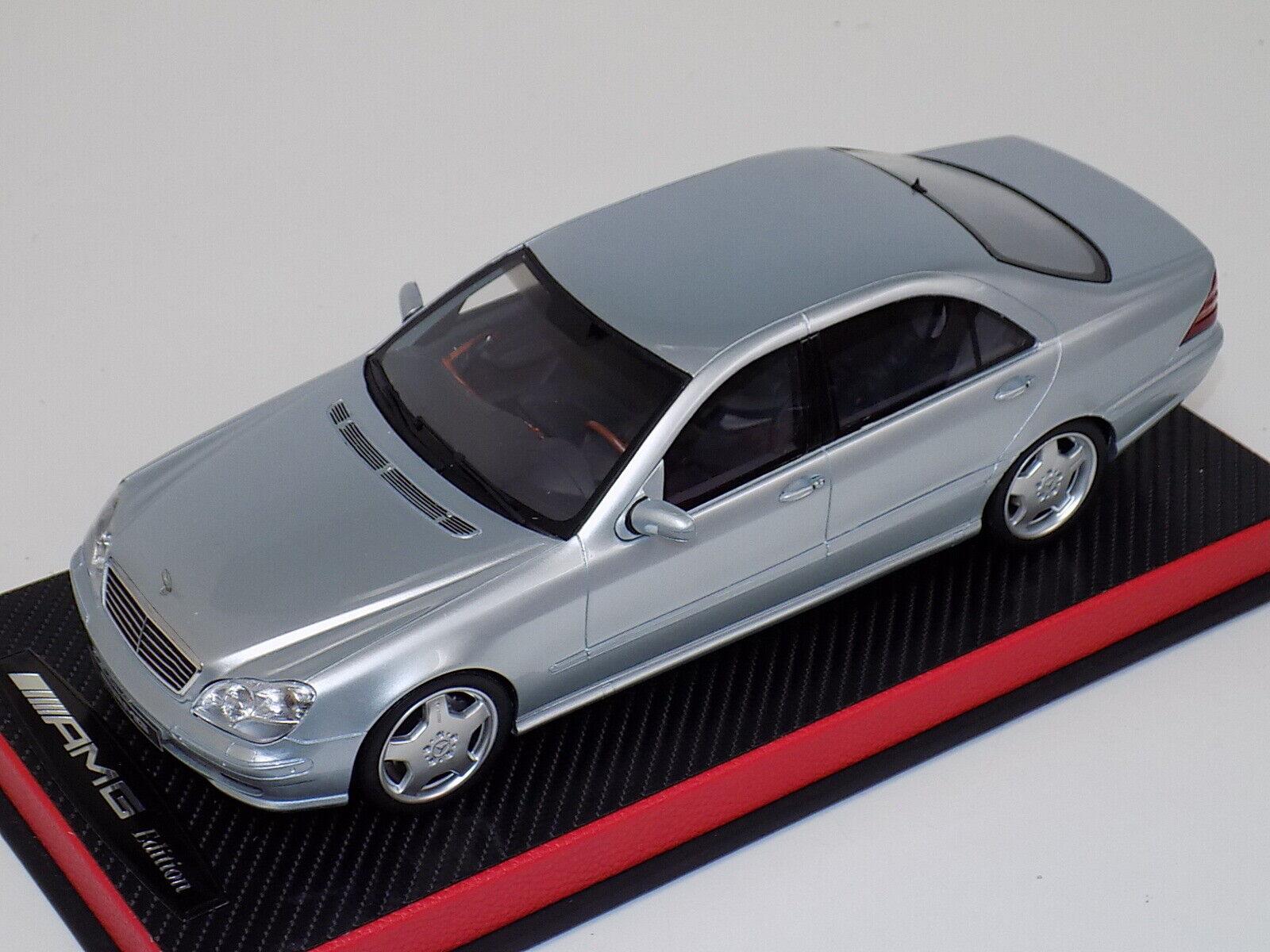 1 18 Otto GT Spirit Spirit Spirit Mercedes clase S55 AMG Benzs de 2000 OT292 Plata Cuero  auténtico
