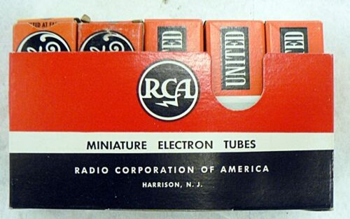 LOT OF 3 OLD UNITED AND 2 GE RADIO TUBES IN ORIGINAL BOXES