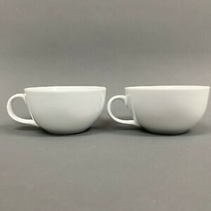 Pier-1-Pier-One-White-Coffee-Cups-Lot-of-2
