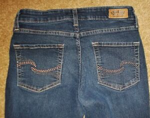 M Blue Strauss Denim Signature Jeans Pantaloni Levi Stretch Bootcut Levi's Size 6 wO775qP