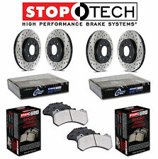 Mazda RX8 Front Rear StopTech Drilled & Slotted Brake Rotors Sport Pads Set Kit