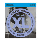 6 X D'Addario EXL116 Medium Top / Hvy Bottom Electric Guitar Strings 11 - 52