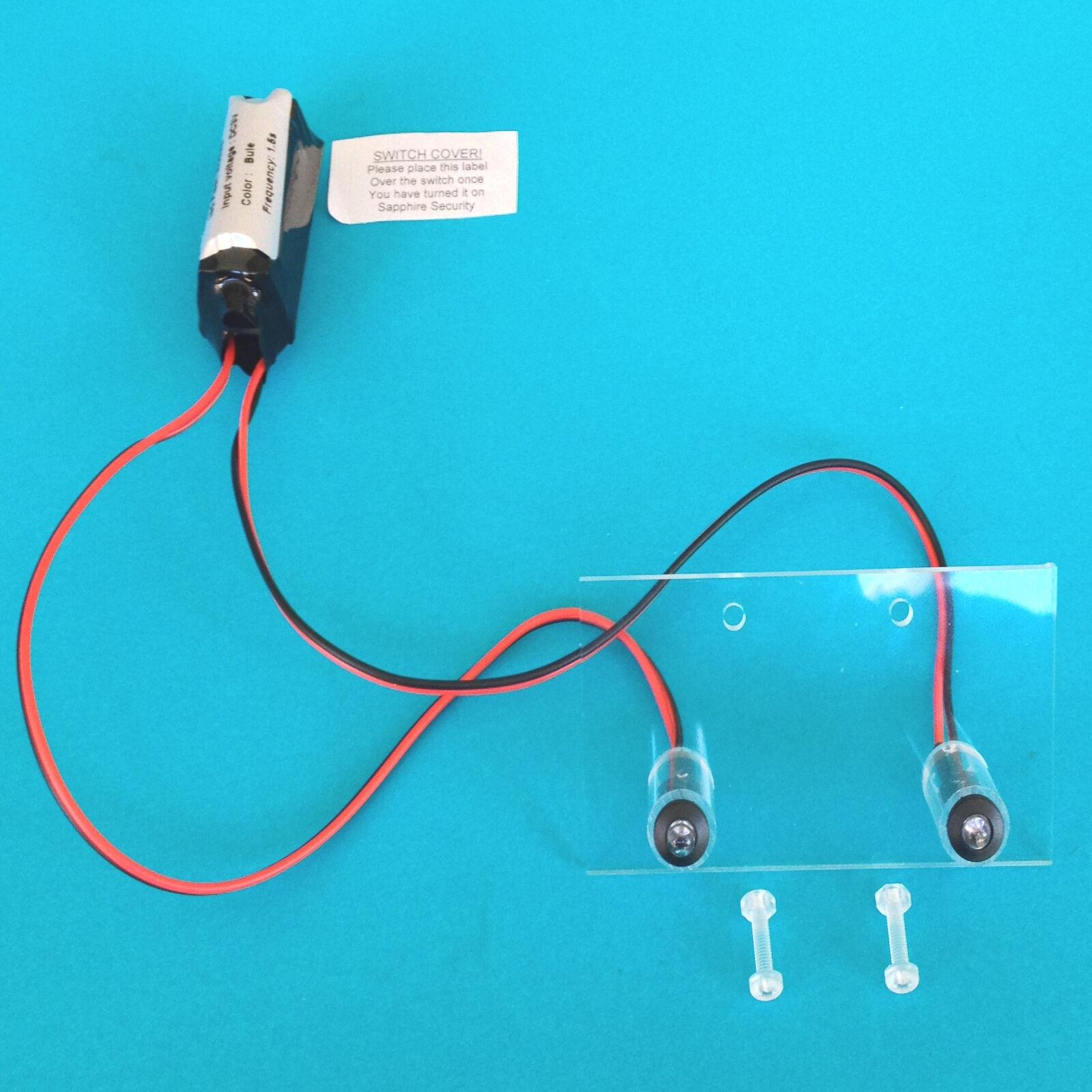 dummy alarm box leds inc fixing kit 10 yr battery twin. Black Bedroom Furniture Sets. Home Design Ideas