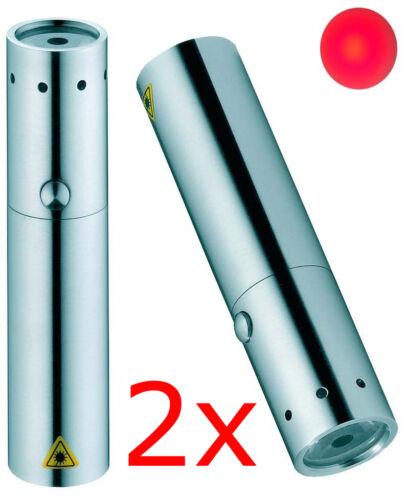 2x DEL LENSER Zweibrüder v2 7731 Lampe de Poche Torche Lampe de NEUF rouge