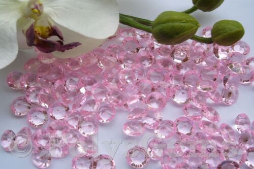 BABY PINK WEDDING TABLE DIAMONDS SCATTER CRYSTALS