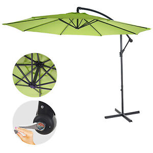 parasol d port semi pro acerra 3m inclinable vert limon sans support ebay. Black Bedroom Furniture Sets. Home Design Ideas