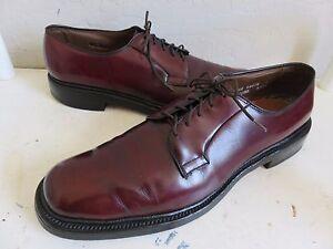 Allen Edmonds Leeds Oxford Shoes Burgundy Leather Mens 11.5AA
