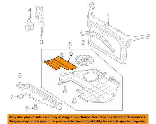 Lincoln FORD OEM MKZ Radiator Core Support-Under Cover Shield 6E5Z54104B40A