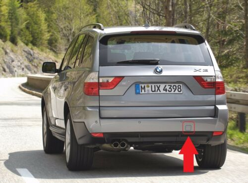 NEW OEM BMW E83 LCI REAR BUMPER TOW HOOK EYE COVER PAINED BY YOUR COLOUR CODE