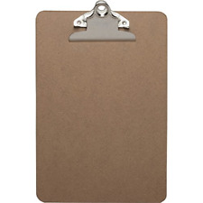 Business Source Brown Hardboard Clipboard 6x9 16506
