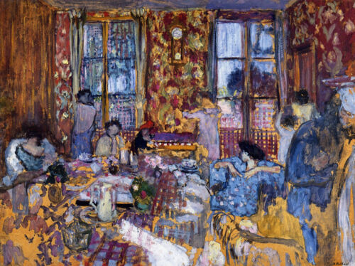 Breakfast at Villerville  by Edouard Vuillard  Giclee Canvas Print Repro