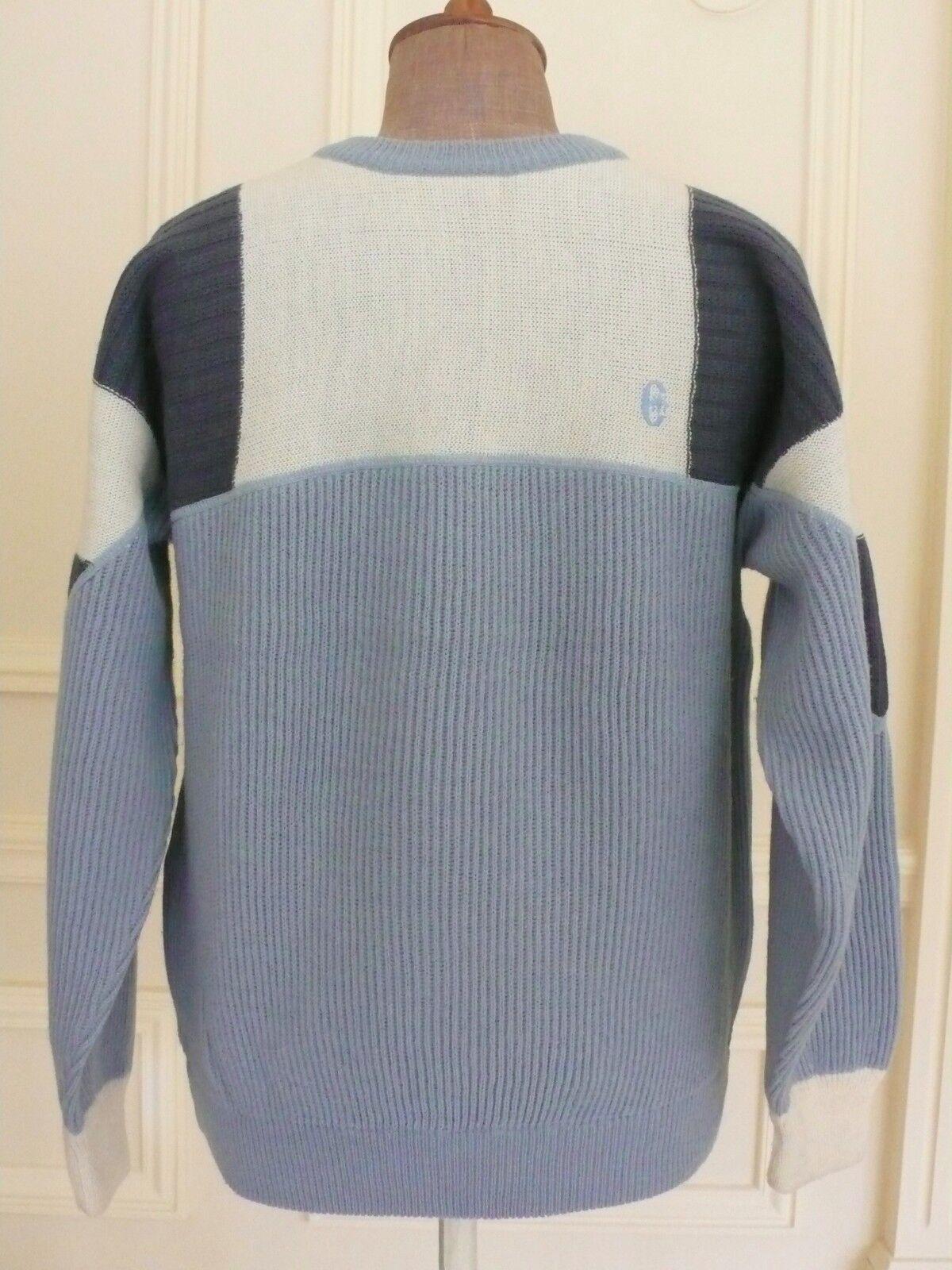 Inutilizzati Conte of Florence LT Blu Double-Layer Top Ski Sweater Maglione 54 ITALIA