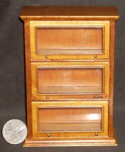 Barrister-Cabinet-Lawyer-Bookshelf-Library-1-12-Dollhouse-Miniature-JBM-J01039WN