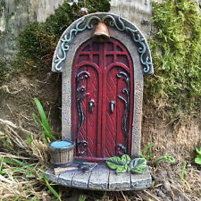 Fairy Door Double Mini Garden Ornament Decoration Statue Hobbit Christmas 39165