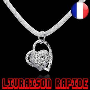 Magnifique-Vente-Collier-Bijoux-Femmes-Chaine-Incruste-Pendentif-Coeur-Cadeau