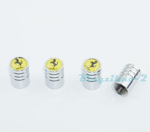 4Pcs Car Wheel Tire Valve Stems Caps Zinc Alloy Covers Accessories For Ferrari
