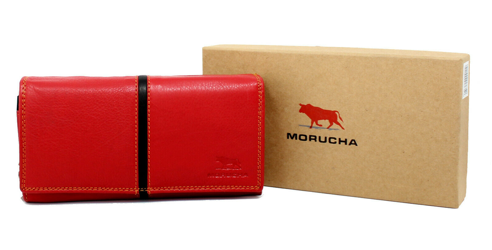 MORUCHA Women RFID Blocking Colorful Genuine Leatherl Long Clutch Wallet M10