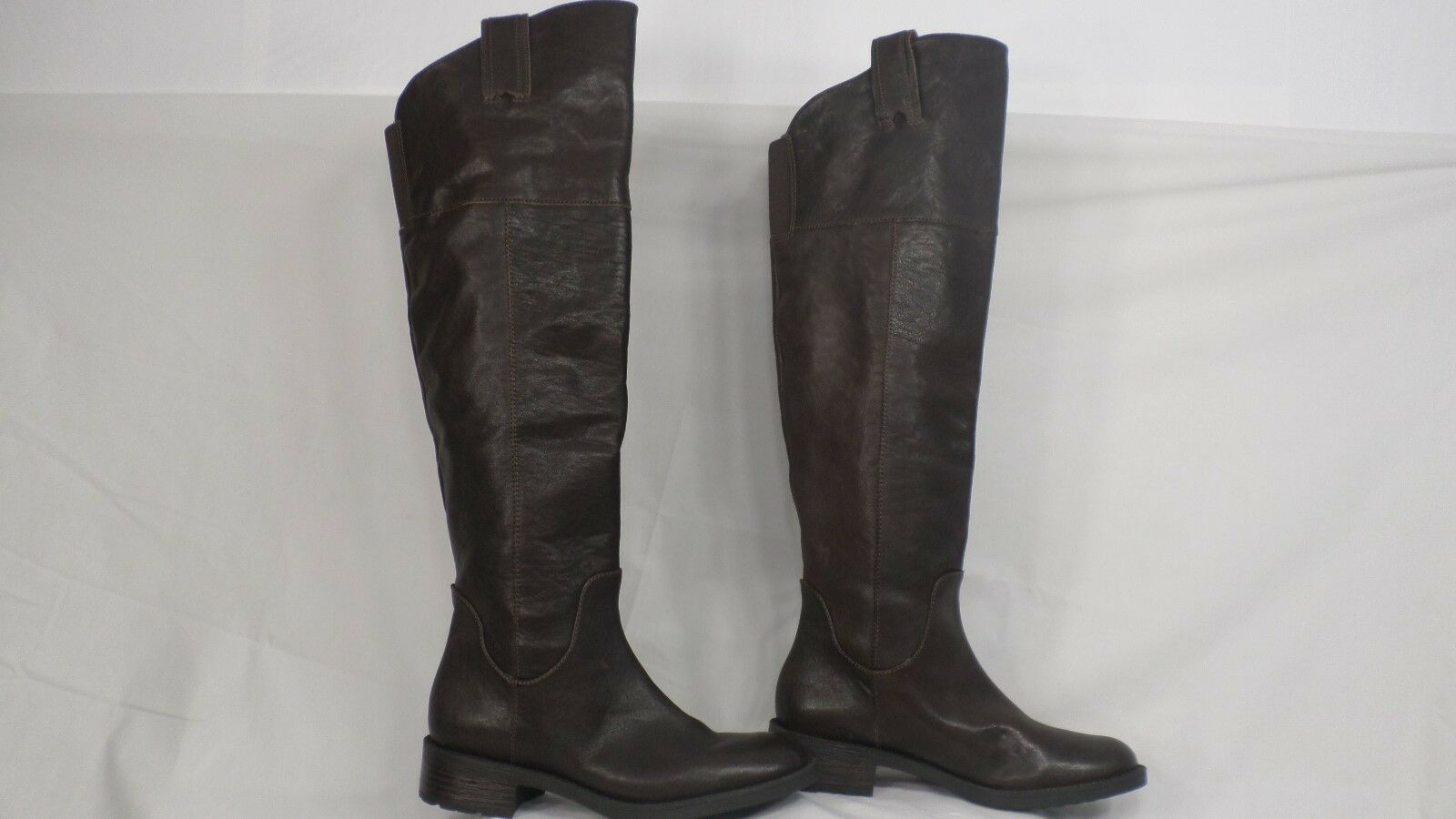 Enzo Angiolini 'Holdyn' Dark Brown Leather Over-the-Knee Pull-On Boot Size 6 M