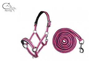 HKM-Matchy-034-Prag-034-Halter-Set-Headcollar-amp-Snap-Hook-Leadrope-Colours-FREE-P-amp-P