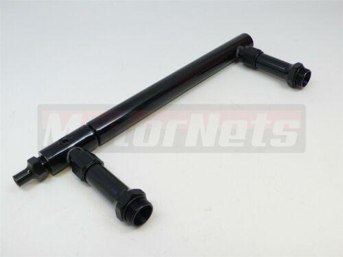 Billet Aluminum Holley 4150 Double Pumper Fuel Line Log Black Anodized SBC BBC