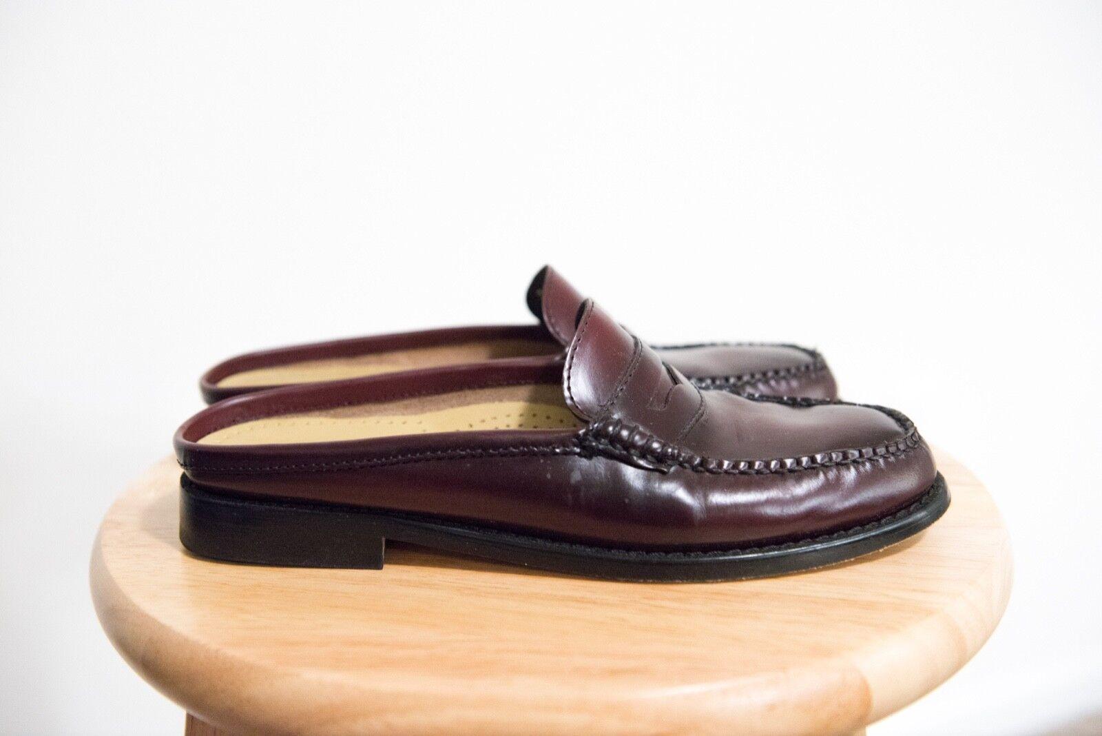 G.H. Bass & Co. de de de Cuero Genuino para Mujer Wynn Slip-On Mula Zapato weejun  cómodamente