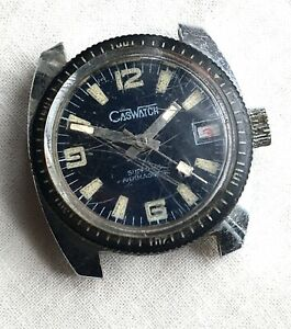 Caswatch-Cal-Cha-380-No-Funziona-For-Parts-Hand-Manuale-29-5mm-Day-Diver-Sub