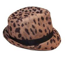 New NWT Collection 18 Fedora Hat Cap Animal Print Leopard Fully Adjustable Fit