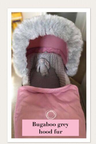 BUGABOO BEE, DONKEY, BUFFALO, CHAMELEON,  pram hood fur, fur trim, pushchair