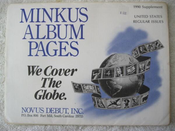 1990 Minkus Album Timbres Supplément États-unis Régulière Issues éLéGant Dans Le Style