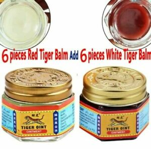 12-x-Baume-du-tigre-6-rouges-et-6-blancs-White-and-Red-tiger-balm-lot-19-4g