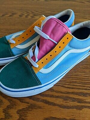 VANS Blue/Green/Yellow/Pink Multi-Color