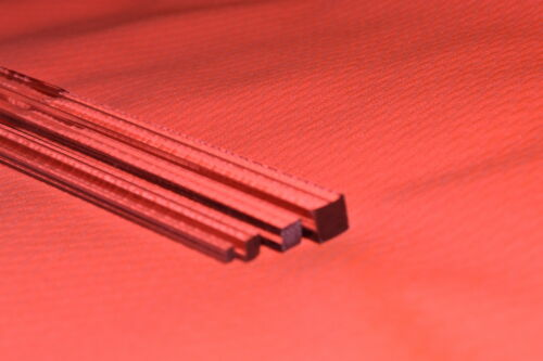 Transparent Acrylique Perspex Carré Solide Barre 3MM 4mm 5mm 20MM Jusqu/'à 100mm