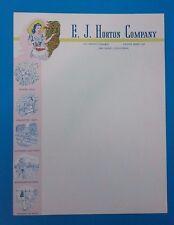 ~RARE~ LETTERHEAD -BLANK- E.J. HORTON COMPANY 1940'S HORTON PLAZA DESIGNS, ETC.