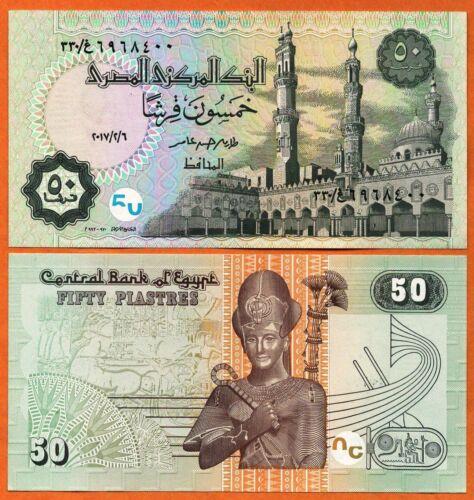 EGYPT 2017 UNC 50 Piastres Banknote Paper Money Bill P 76