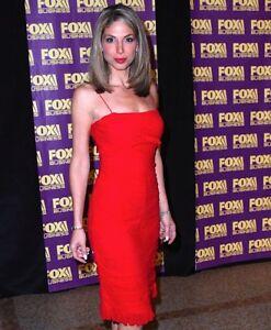 Nicole Petallides Fox Business Reporter Red Dress 7x10 Candid Photo