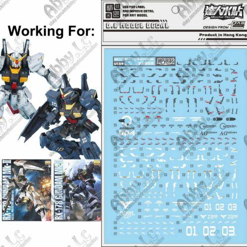 for MG 1//100 RX-178 Gundam Mk-II AEUG Titans ver 2.0 DL WaterSlide Decal Sticker