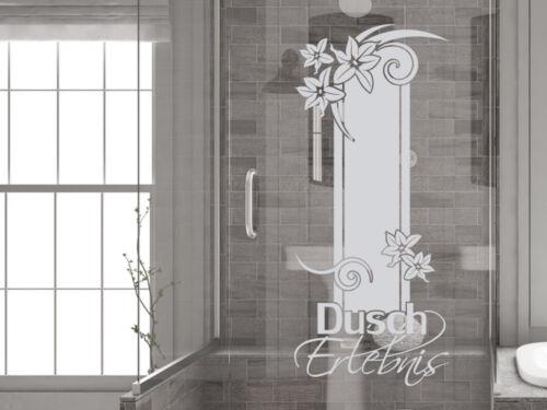Glasdekor Fensterfolie Duschkabine für Badezimmer Dusch Erlebnis Spruch