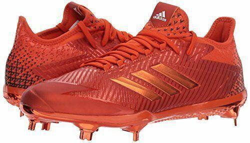 Adidas Men's Adizero Afterburner 4 Baseball shoes, Collegiate orange, Sz 14 mens