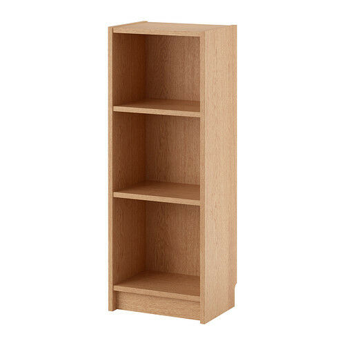 Ikea Billy Beech Veneer Bookcase With 2 Shelves 40x28x106cm Glass