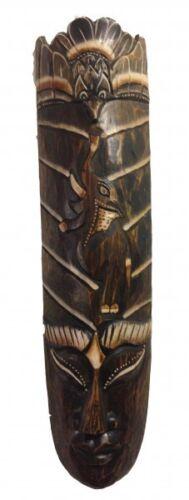Maske Elefant aus Holz Größe 50 cm Holz-Maske aus Bali Wandmaske