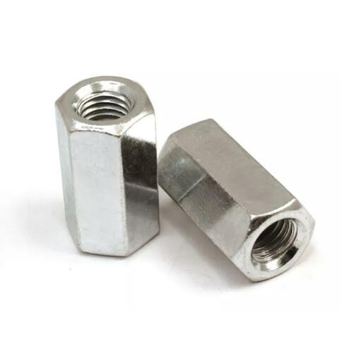 for Connecting Screwed Rod Bars BZP Metric Hexagon Connector Long Nuts