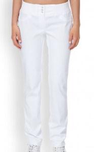 Clinic-Dress-Damenhose-Arbeitshose-weiss-mit-Strickbuendchen-509415