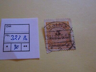 100% QualitäT Deutsches Reich, Inflation, Mr. 327 B, Mit Top-abstempelung, Foto