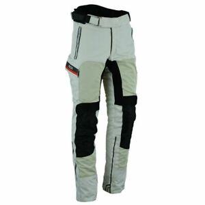 Herren-Textil-Motorrad-Hose-hellgrau-rot-eUVP-249-95-Motorrad-Roller-Hose-Neu