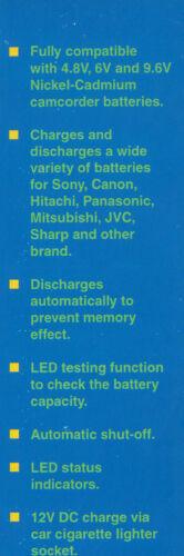MP 880 1x Videolab Videocámara Batería cargador /& Reacondicionador 4.8v 6v 9.6v