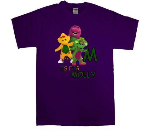 Barney and Friends Personalized Custom ABC Birthday Shirt in 8 Different Colors