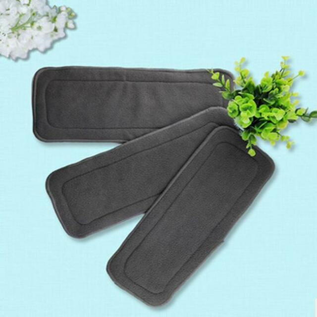 Bamboo Fiber Baby Cloth Diaper Inserts Liners Soaker Pads Reusable Washable G