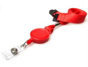 ID-Card-Holder-Lanyard-Neck-Strap-With-YoYo-Badge-Reel-PICK-YOUR-COLOUR