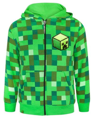 Minecraft Children/'s//Boy/'s Official Creeper Character Zip Up Hoodie